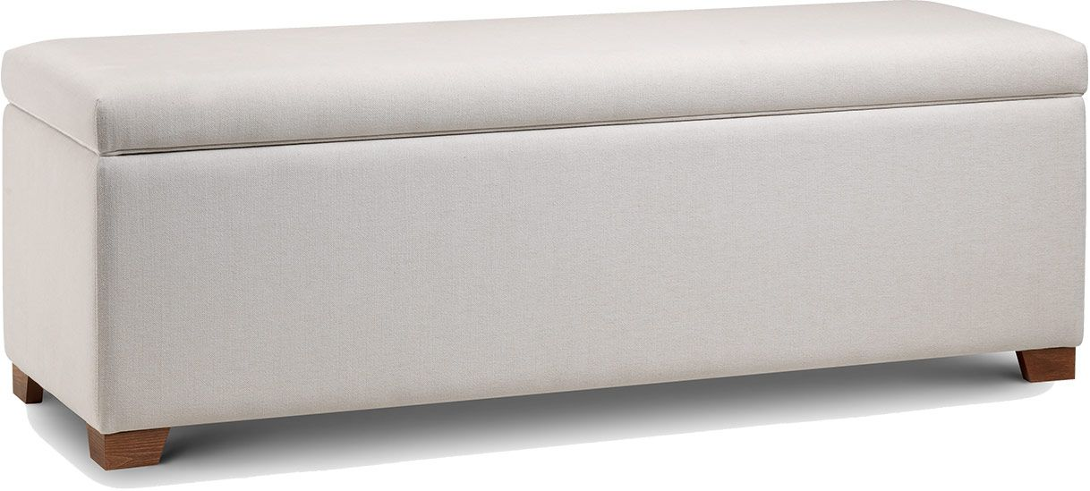 Ottomans Deacon Beige Upholstered Blanket Box: Upholstered Blanket Box Different Design Ideas