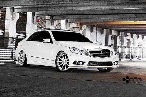 White Mercedes Benz E350 Sedan W212 Mercedes Benz E350 Custom