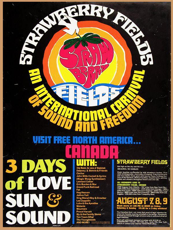 Strawberry fields festival mosport ontario 1970 music posters strawberry fields festival mosport ontario 1970 fandeluxe Gallery
