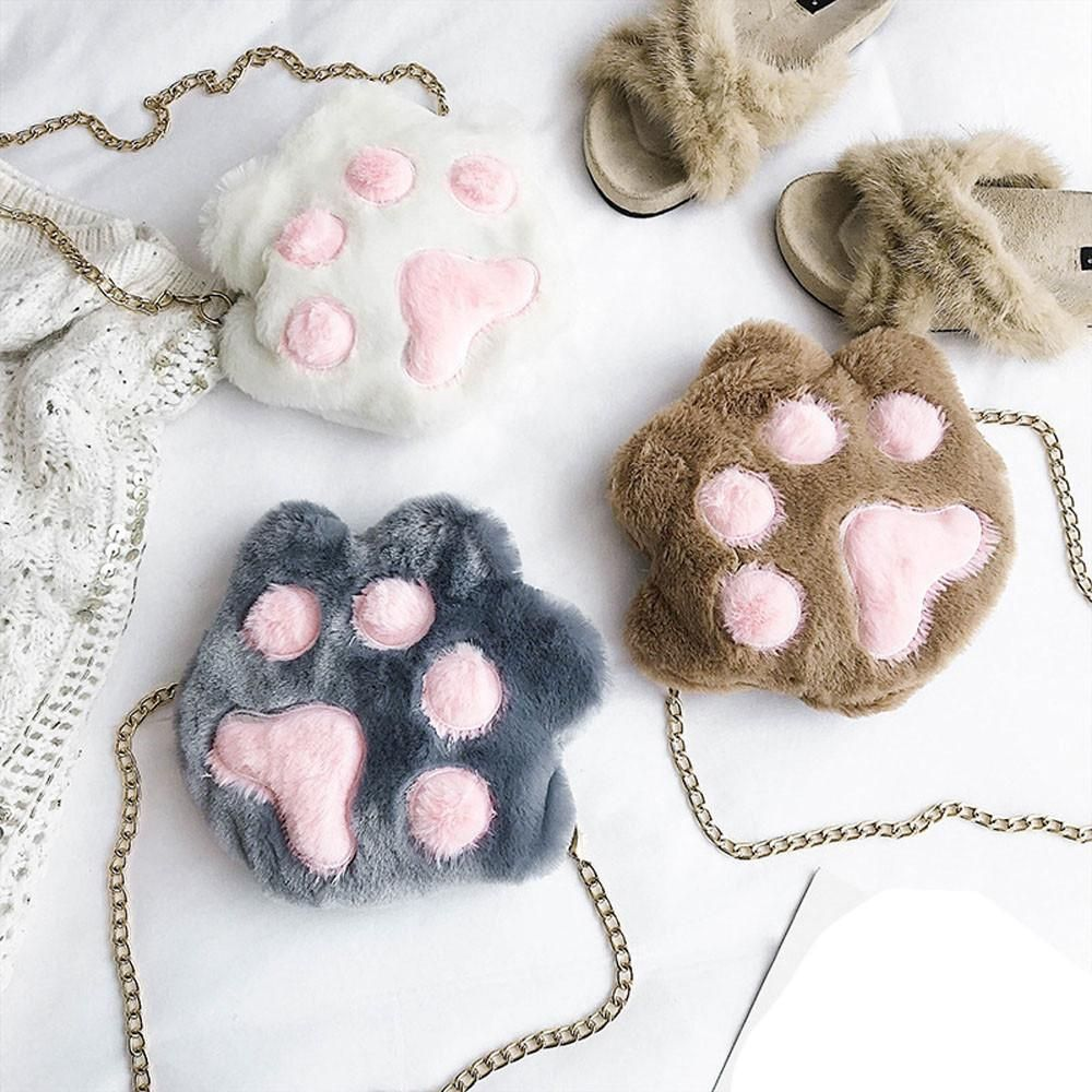 Paw Crossbody Bags Cat Paws Cat Purse Cat Grooming