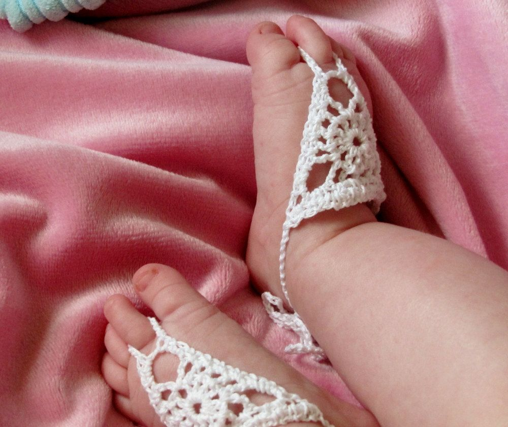 Barefoot sandals for baby crochet jewelry babies from head to barefoot sandals for baby crochet jewelry bankloansurffo Image collections