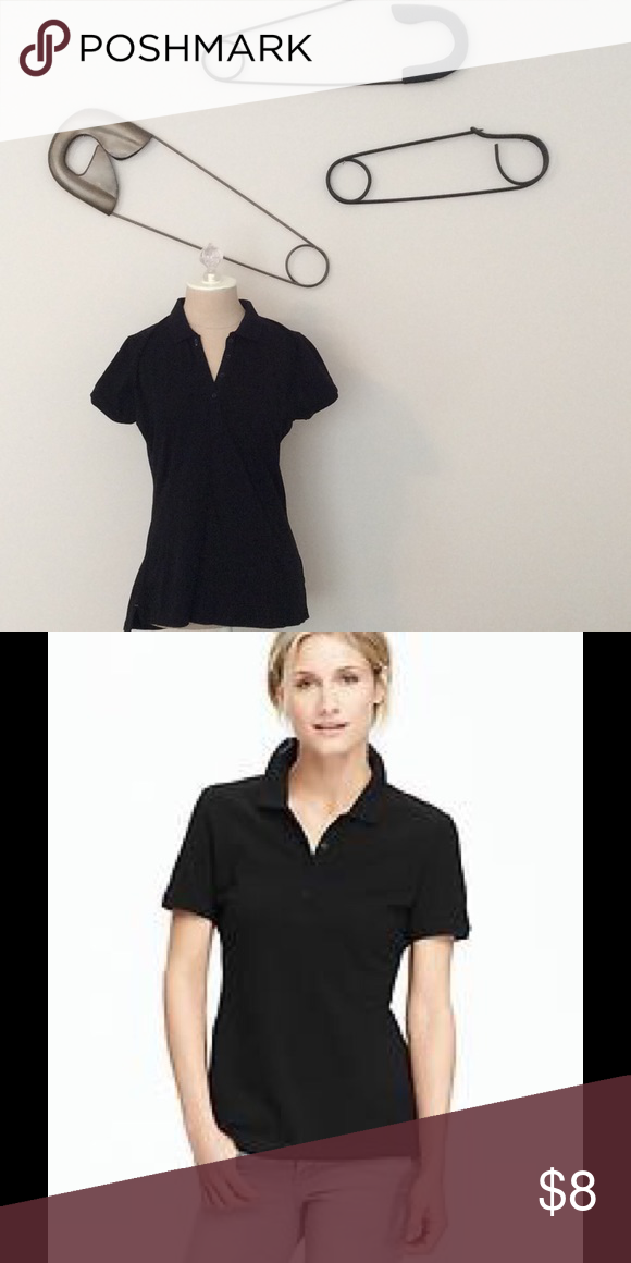 Old Navy black polo shirt | Black polo shirt, Fashion, Black