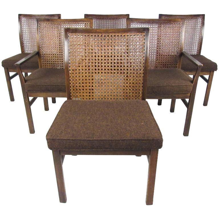 Lane Mid Century Cane Back Dining Chairs Set Of 6 Dining Room Chairs Dining Chairs Lane Furniture