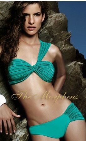 Morpheus Boutique  - Green One Shoulder Shimmer Sexy Two Piece Bikini Swimsuit, $45.99 (http://www.morpheusboutique.com/products/green-one-shoulder-shimmer-sexy-two-piece-bikini-swimsuit.html)