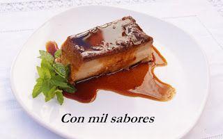 Con mil sabores: PUDIN DE GALLETAS MARIA