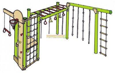 ninja 5 diy playground kit climbing ropes net obstacle