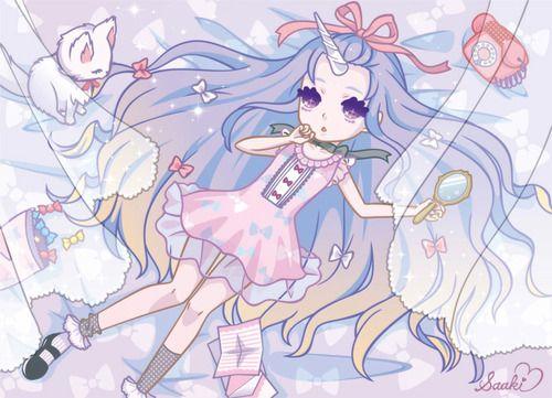 unicorn dreams♥ #fairy kei,#dreamy,#harajuku,#pastel,#unicorn