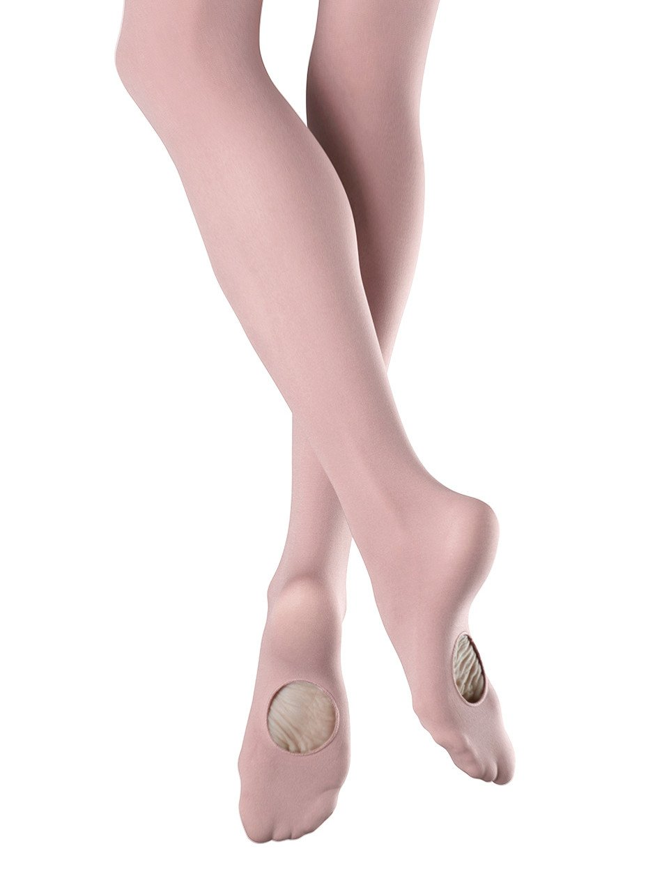 Convertible Dance Tights Ballet Pink and Tan Child and Adult Sizes NEW