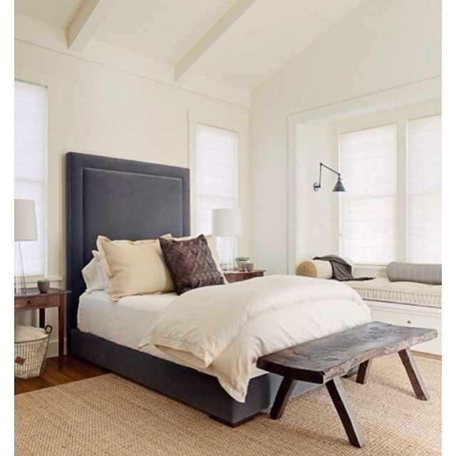 Modern farmhouse master bedroom in St. Helena. #jenniferrobininteriors #modernfarmhouse #masterbedroom #interiordesign