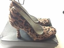 Dolce&Gabbana Leopard Velvet Classics Pumps Shoes Made in Italy Sz 37.5
