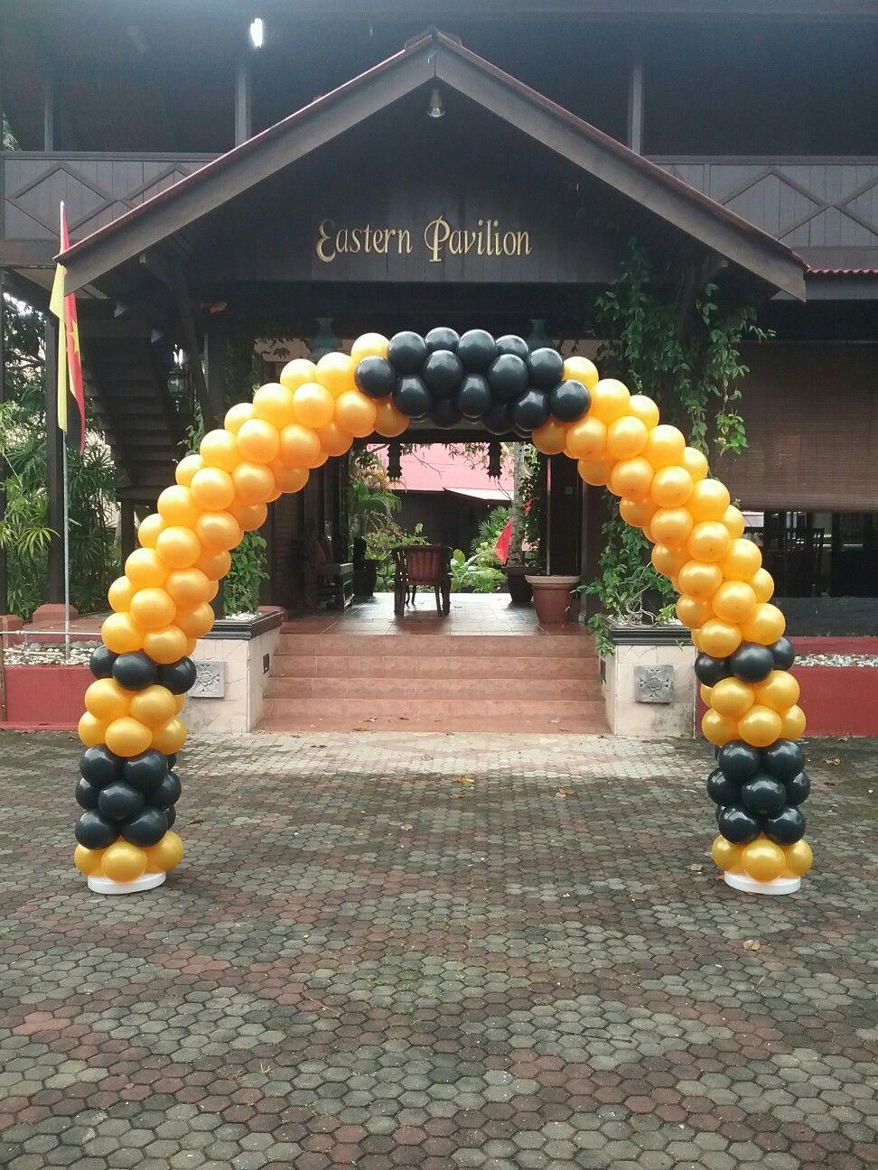 Arch Balloon Gold u0026 Black Theme by