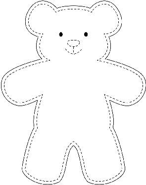 Teddy Bear Template | Make An Easy Teddy Bear Easter Teddy Bear Template Bear
