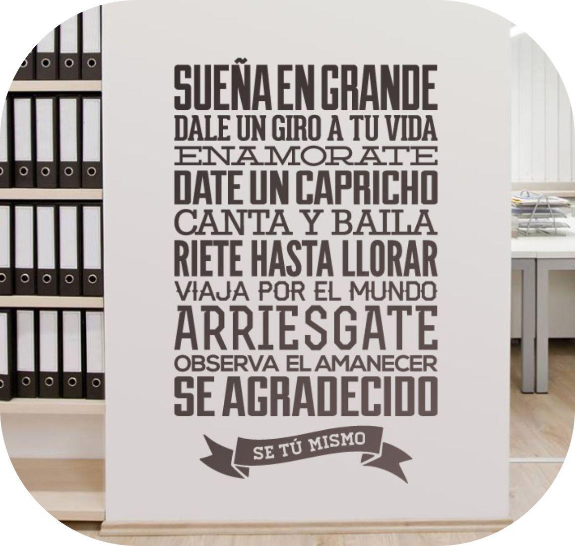 vinilos decorativos frases celebres - Buscar con Google | Mensajes ...