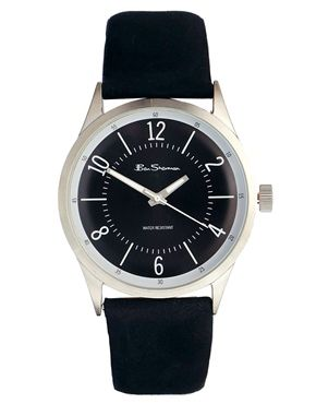 Ben Sherman Black Leather Watch BS068