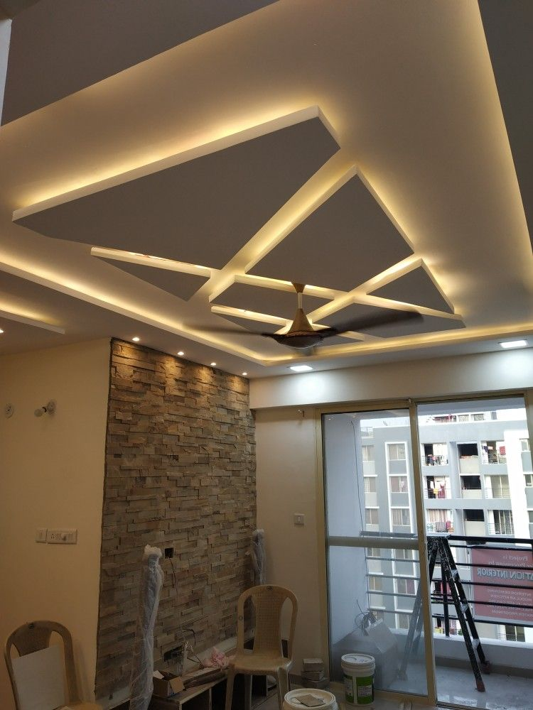 Pop Design By Creation Interior Bedroom False Ceiling