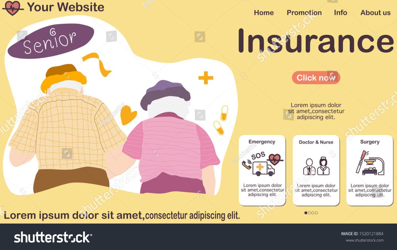 Elderly Insurance Icon For Pension Care Senior Parent Health Life Sign Symbol Health Insurance Elderly Vector S Senior Parents Emergency Doctor Parenting