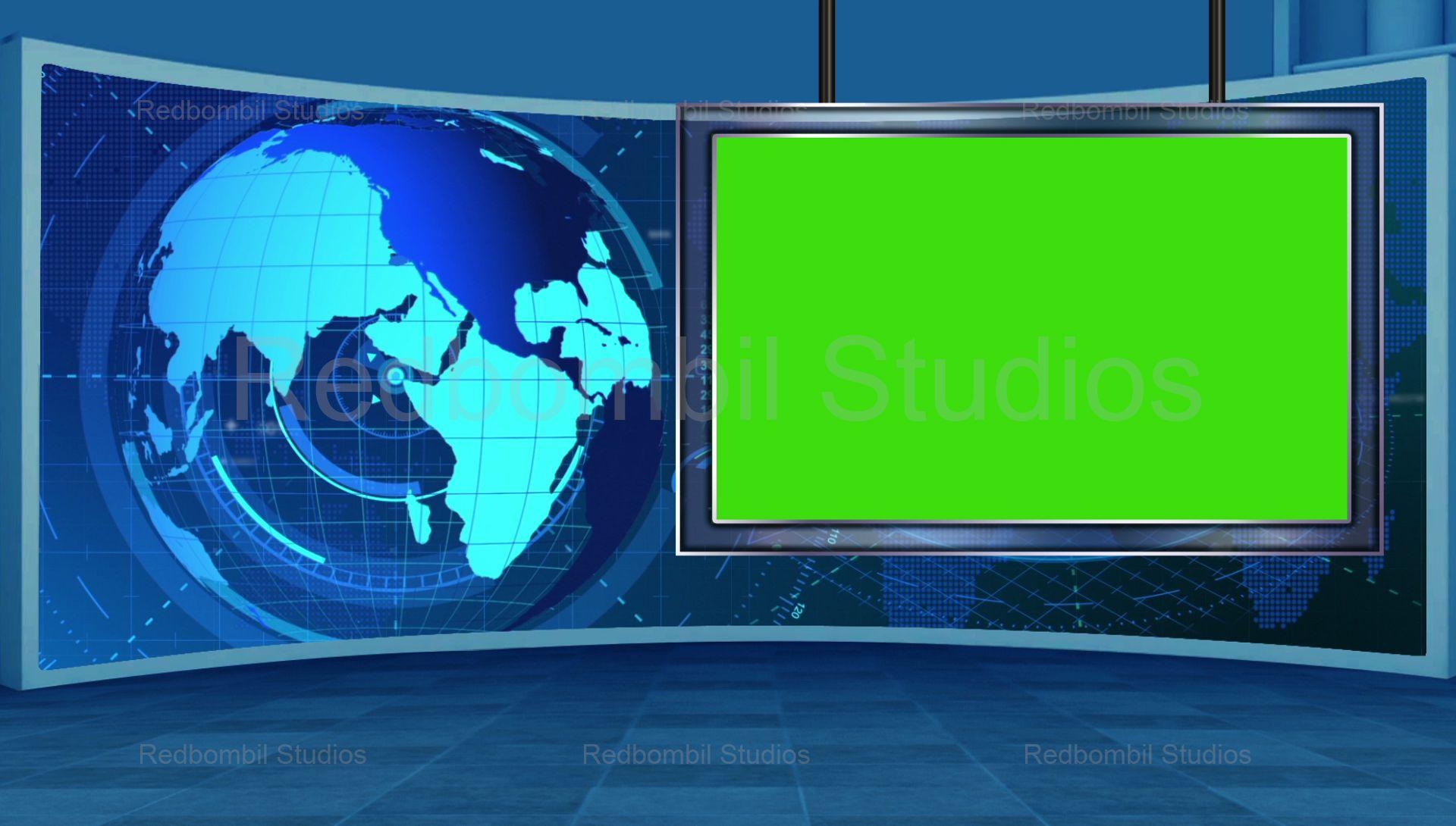News 16 Broadcast Tv Studio Green Screen Background Loopable Green Screen Backgrounds Greenscreen Free Green Screen