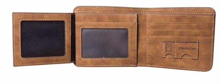a378f7c04aa7 Vintage Designer Men Wallet Bifold Matte Leather Wallets Mens Small ...