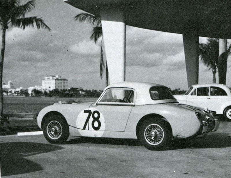 1959 12 hour Sebring Sprite No. 78 , driven by Sydney and Greta Oakes , DNS.