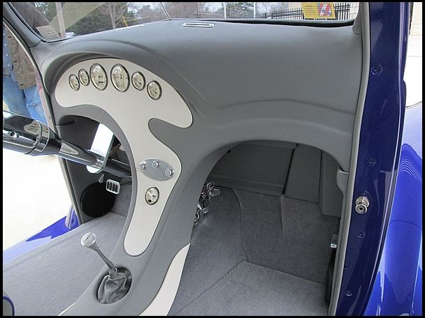 S105 1937 Ford Coupe Street Rod Fuel Injection Custom Interior Photo 5 Ford Roadster Car Interior Street Rods