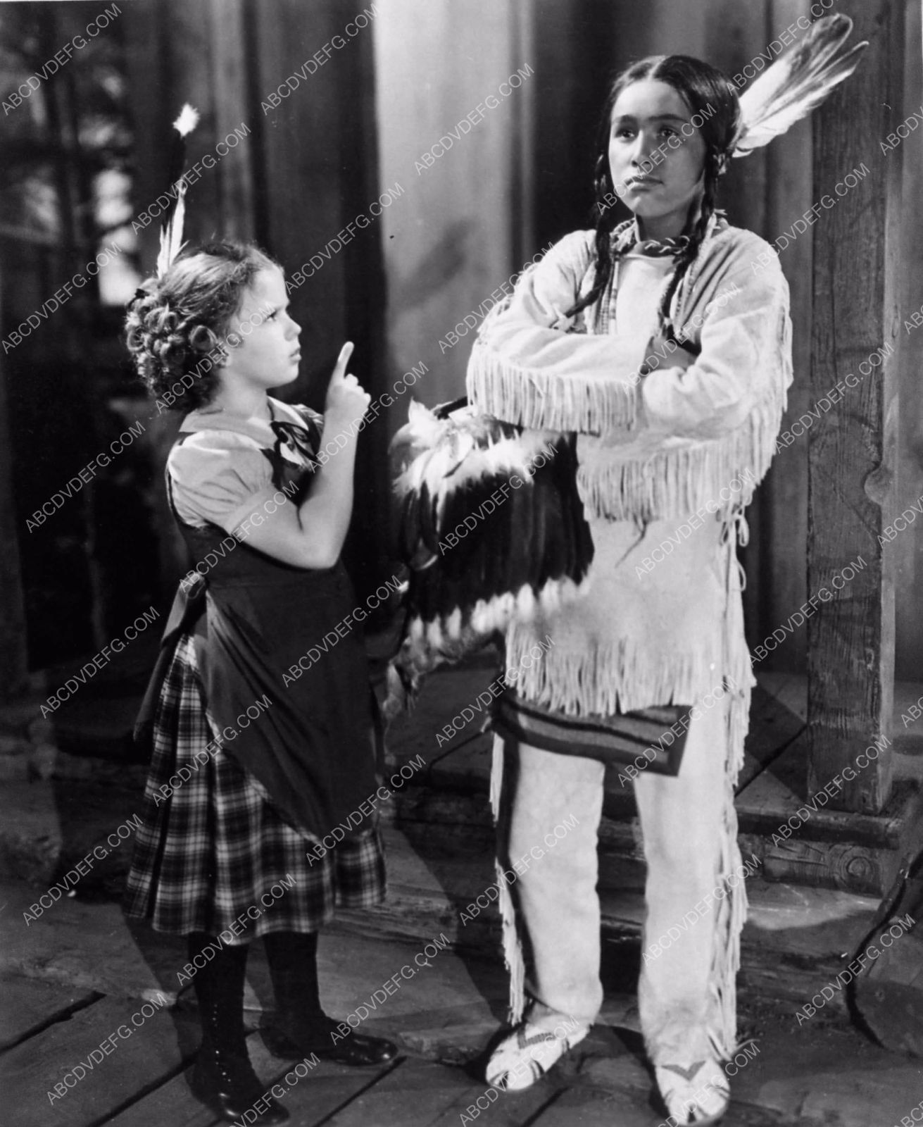 Shirley temple and young indian boy susannah of the mounties