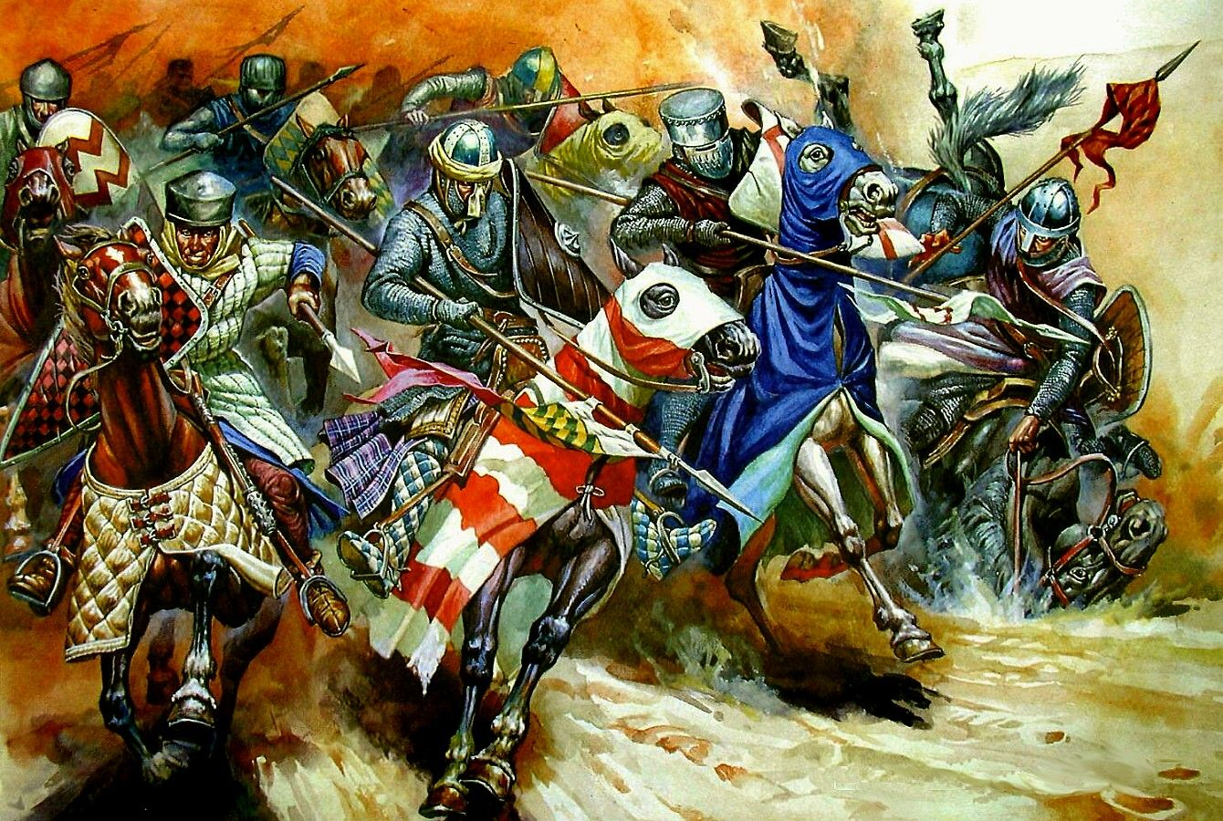 Knights' Charge at the Battle of Arsuf, 7 Sept 1191