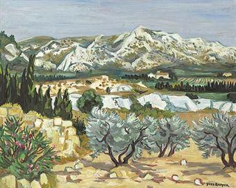 Les Alpilles En Ete By Yves Brayer Peinture Paysage Art Paysage