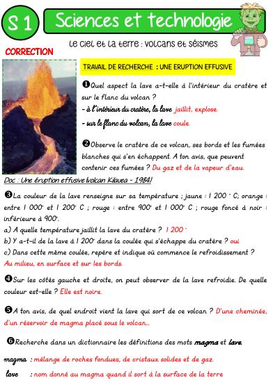 Turbo VOLCANS ET SEISMES | Éducation | Pinterest | Volcans, École et  CJ75