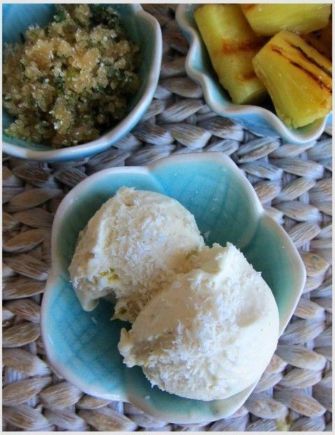 Kokosovo-limetková zmrzlina