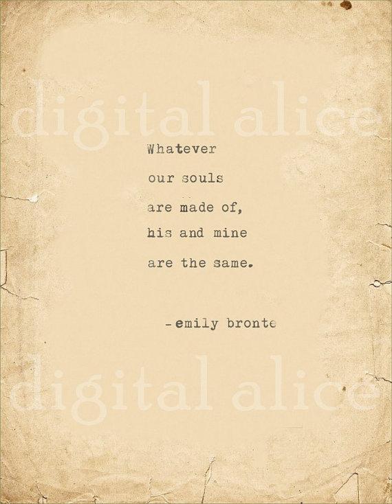 Love Vintage Typewriter Print Emily Bronte Quote By -6689
