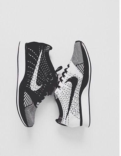 street-goth:Nike Flyknit ___follow street-goth for more monochrome street fashion