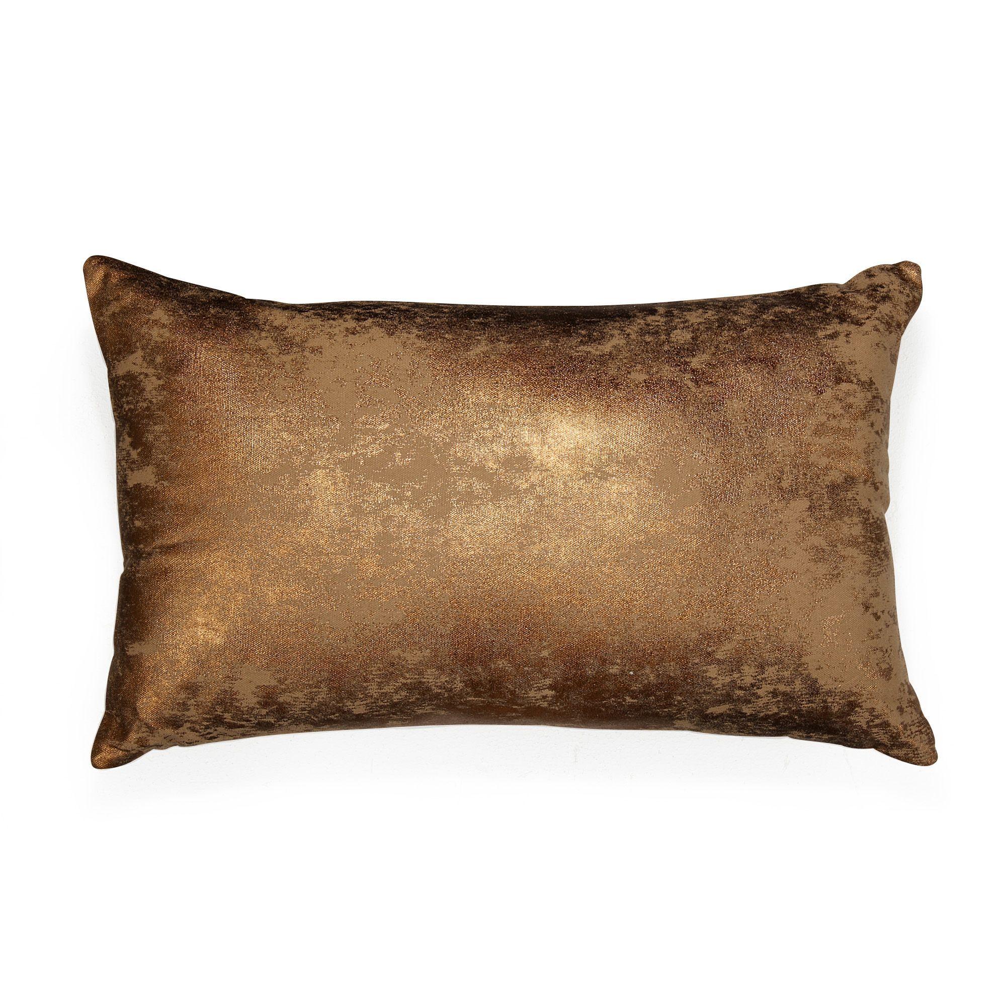 kaska coussin rectangulaire 30x50cm cuivre d coration. Black Bedroom Furniture Sets. Home Design Ideas