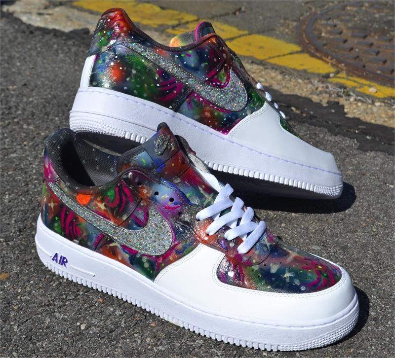 quite nice 91e21 c98aa Nike Air Force 1 Size 11 Custom Marijuana Leaf Shoes Weed Rasta Pothead 420