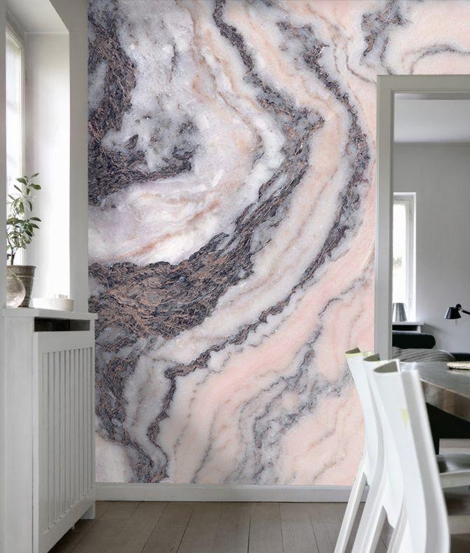 Pink Grey Marble Grey Marble Wallpaper Bedroom
