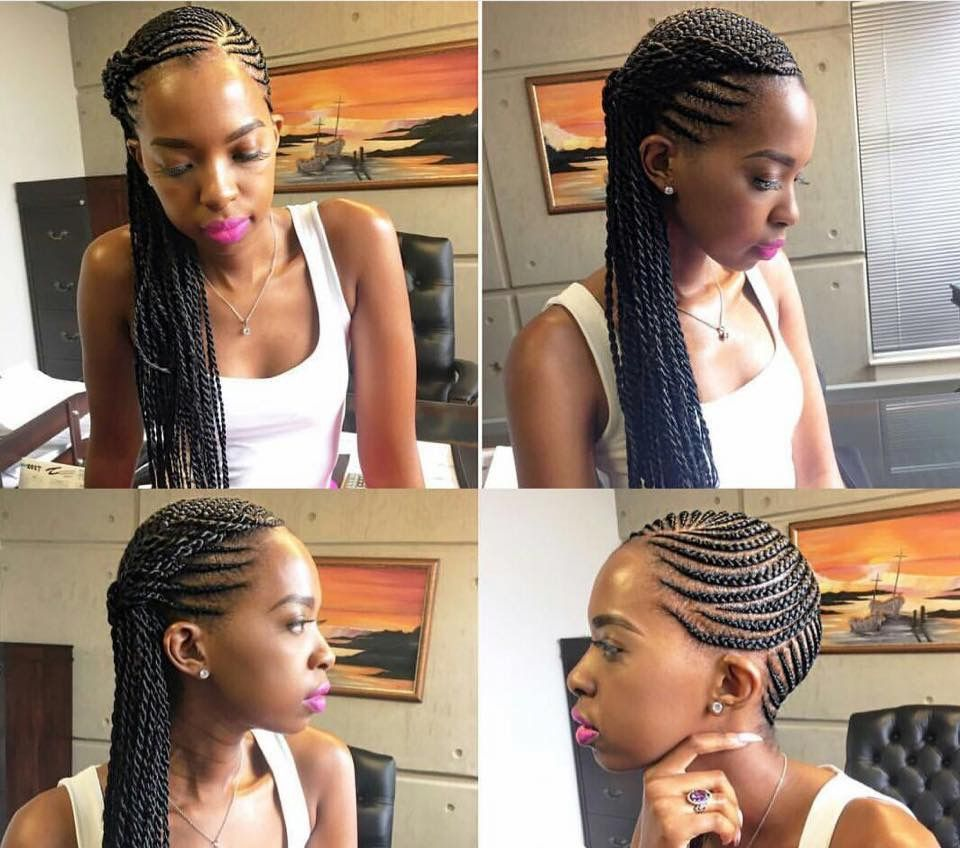 Side Cornrows And Braid Black Girl Hair Braid Styles Cornrow Hairstyles Side Cornrows Braided Hairstyles