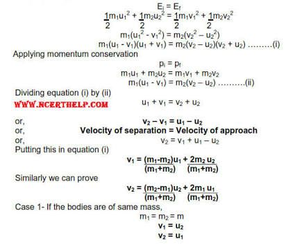 Image Result For Elastic Collision Formula How To Apply Formula