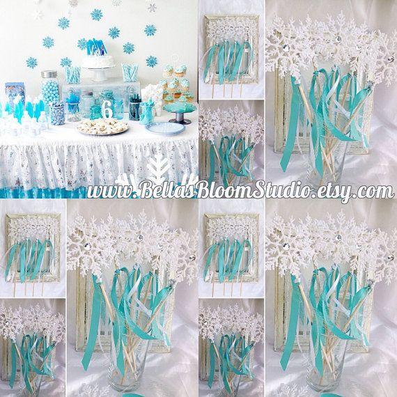 Frozen wands Frozen Favors Frozen birthday by BellasBloomStudio