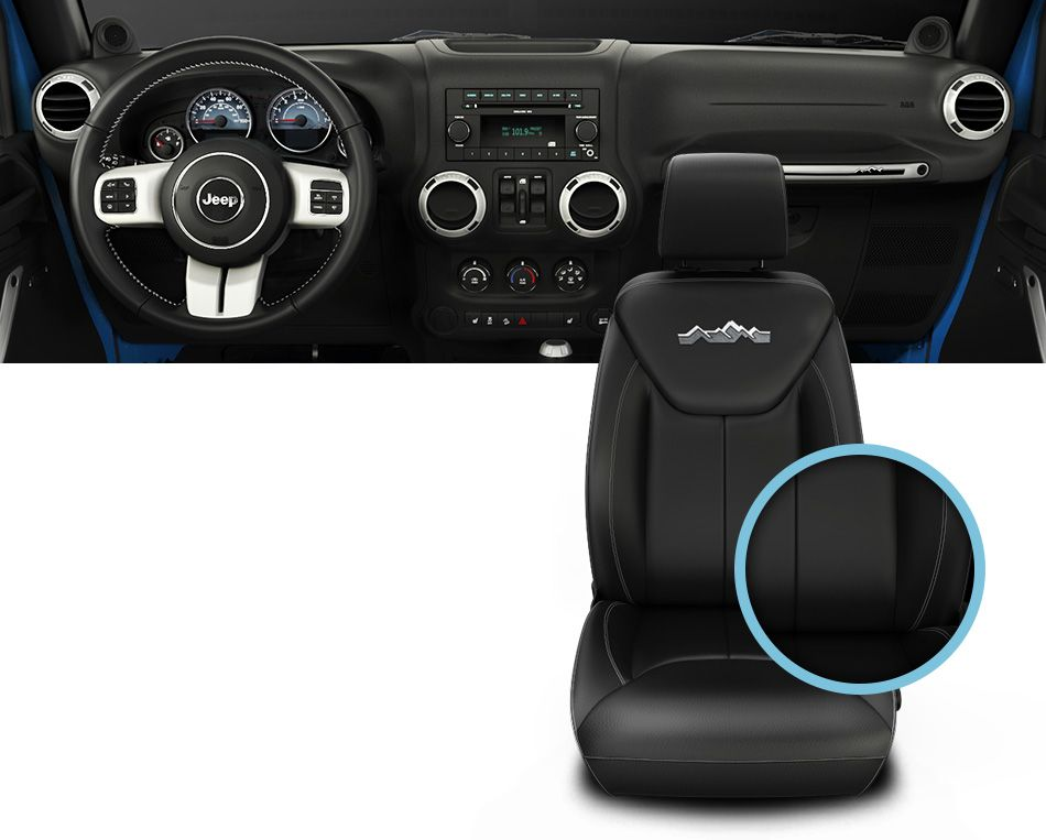 Interior Front and Seat of the 2014 Jeep Wrangler Polar