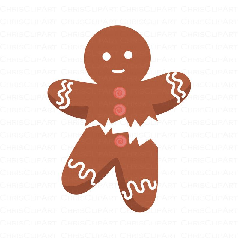Gingerbread Svg Gingerbread Clip Art Gingerbread Png Etsy Clip Art Kids Playroom Decor Witch Silhouette