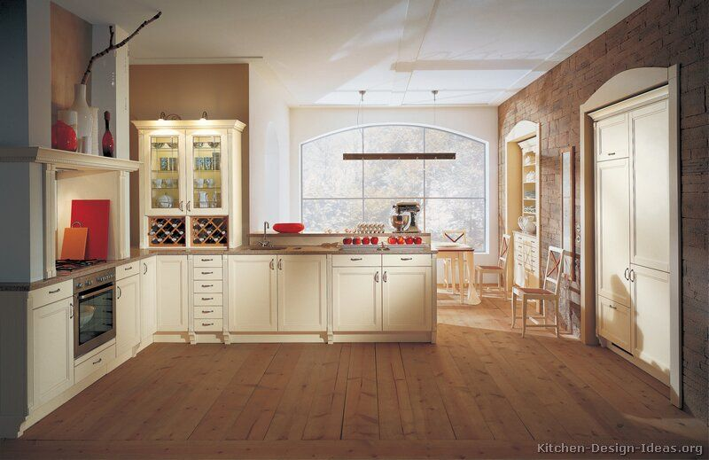 Traditional Antique White Kitchen Cabinets 27 Alno