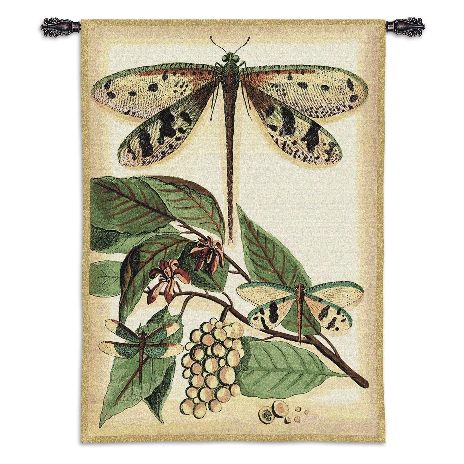 Fine Art Tapestries Lt Whimsical Dragonfly I Wall Tapestry - 3120-WH