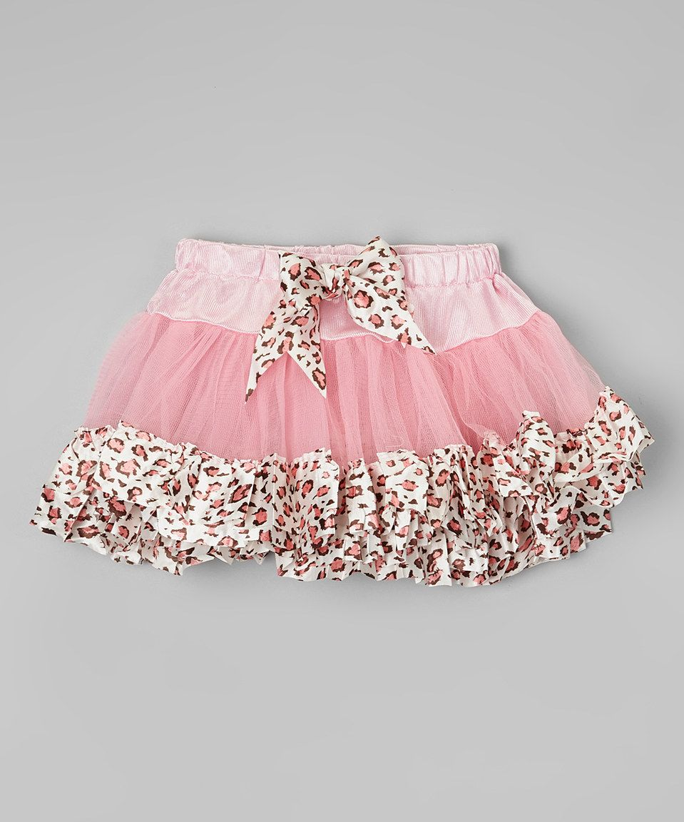 Another great find on #zulily! Pink Leopard-Trim Tutu - Toddler & Girls by Wenchoice #zulilyfinds