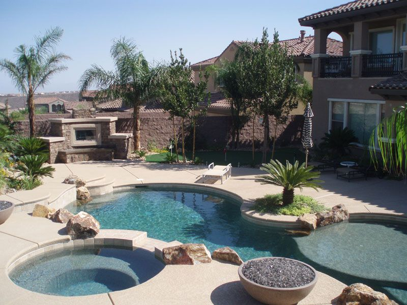 Pool Landscapes Pool Landscaping Backyard Pool Backyard Pool