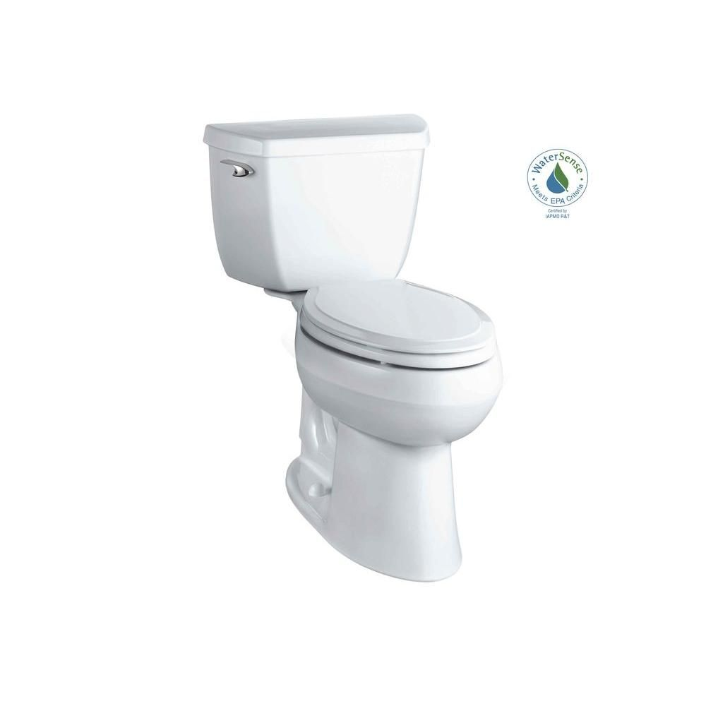 Kohler Highline Classic The Complete Solution 2 Piece 1 28 Gpf Single Flush Elongated Toilet In White Seat Included K 11499 0 The Home Depot At Least