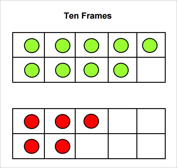 Sample Ten Frame Templates To Download  Szmok Szmkrtyk
