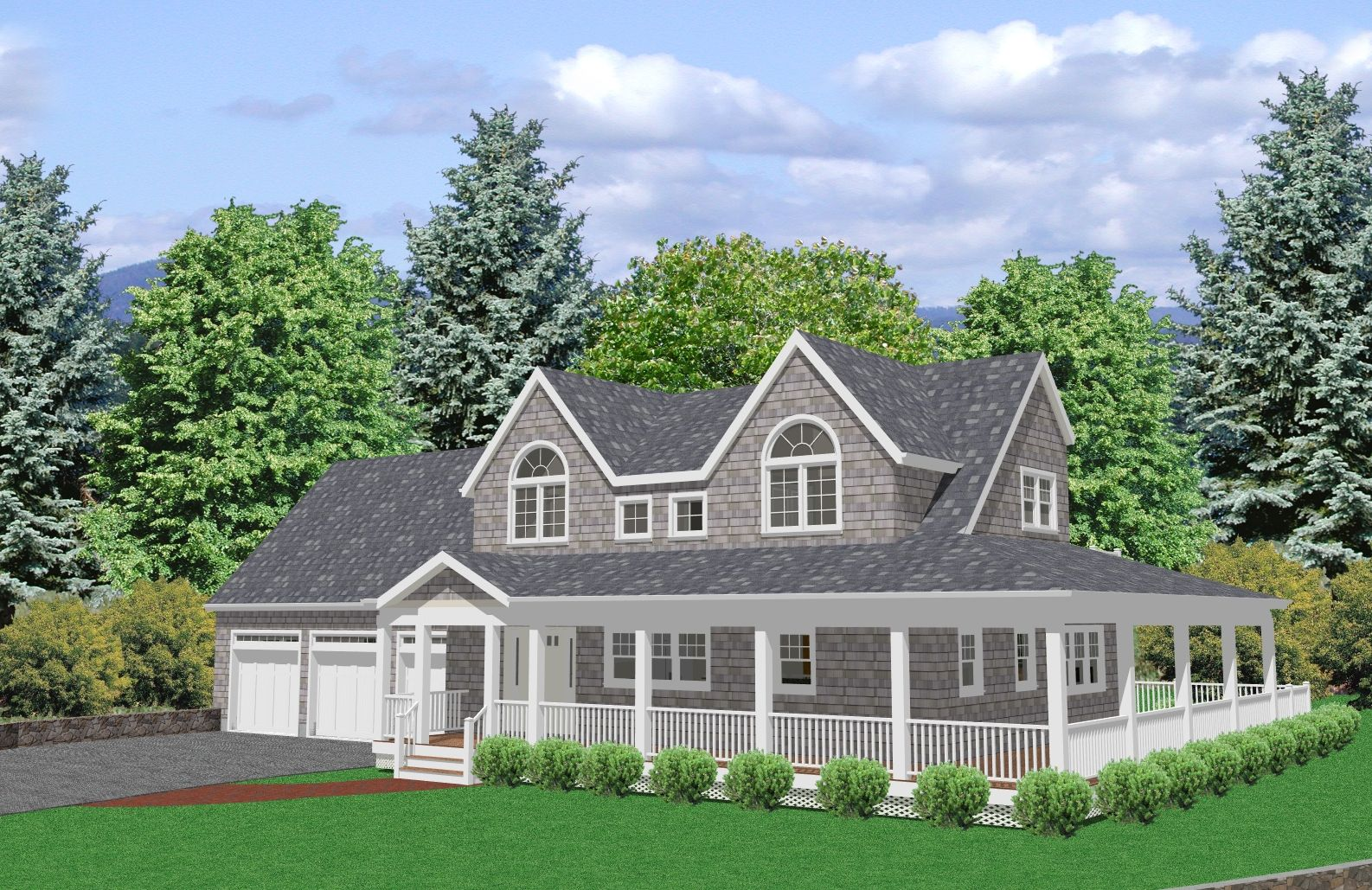 Cape Cod Style House Plans | 2027 Sq/ft 3 Bedroom Cape Cod House Plan With  A Large Bonus Room.