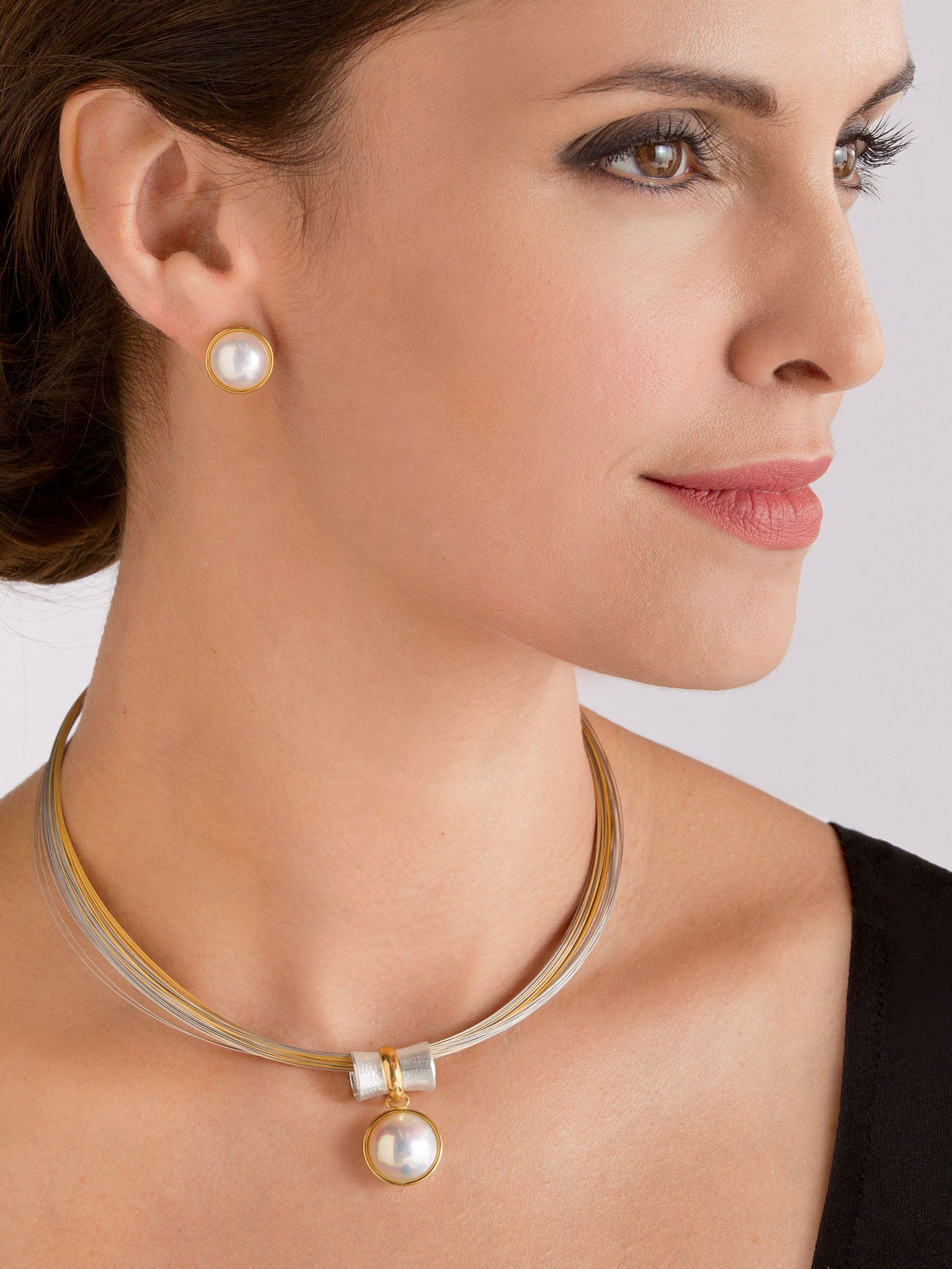 Orbit Pendant Mabe Pearl Earrings By Gabriel Ofiesh Necklace Timeless Beauty Sterling Silver Necklaces And