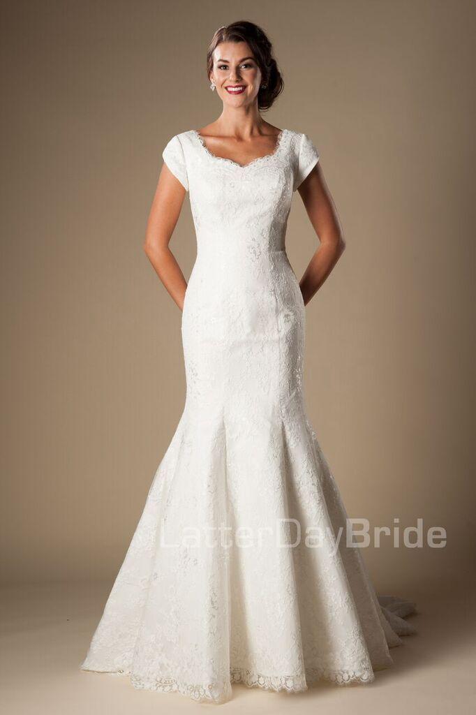'Telluride' modest wedding gown, modest bride, modest wedding,