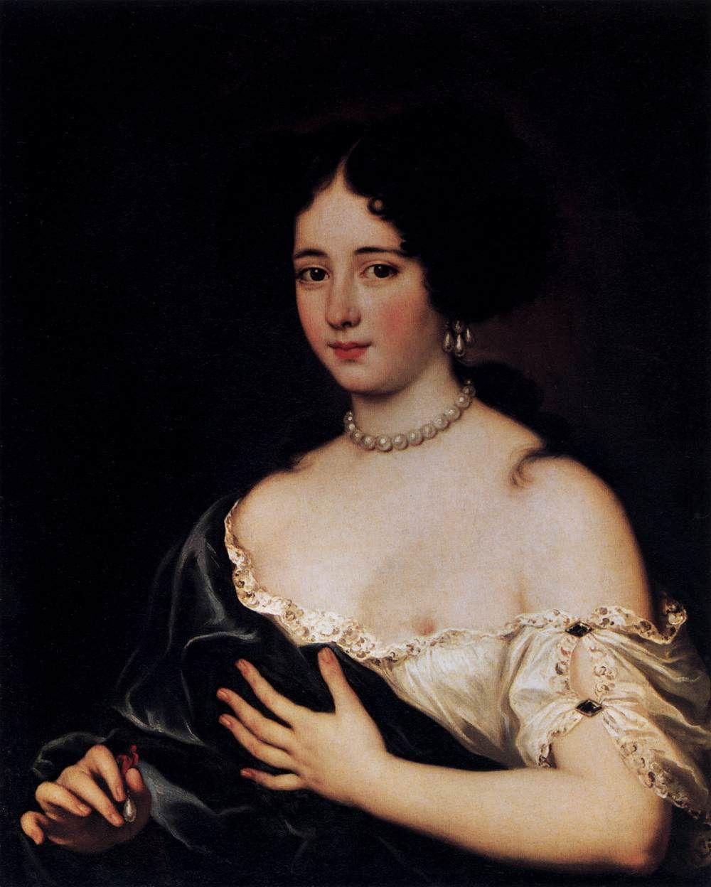 VOET, Jacob Ferdinand (b. 1639, Antwerpen, d. ca. 1700, Paris) Maria Mancini as Cleopatra 1663-72 Oil on canvas, 75 x 62 cm Staatliche Museen, Berlin