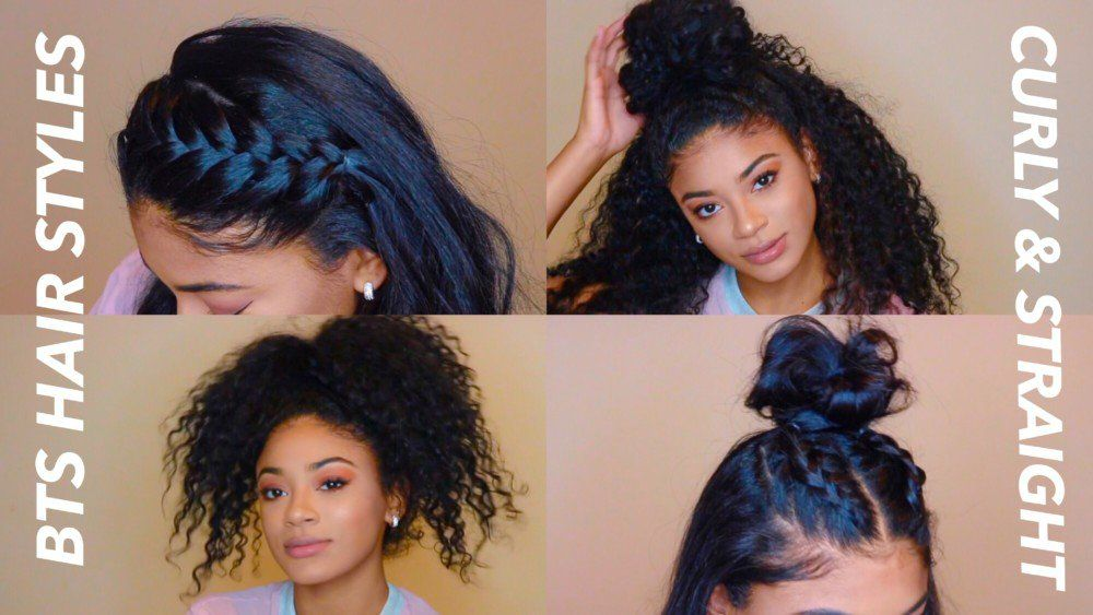 Back to School Hairstyles Curly & Straight [Video] | Curly ...